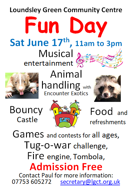 Annual Fun Day @ Loundsley Green Community Centre | Chesterfield | England | United Kingdom