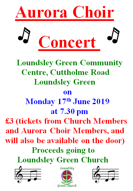 Aurora Choir Concert @ Loundsley Green Community Centre