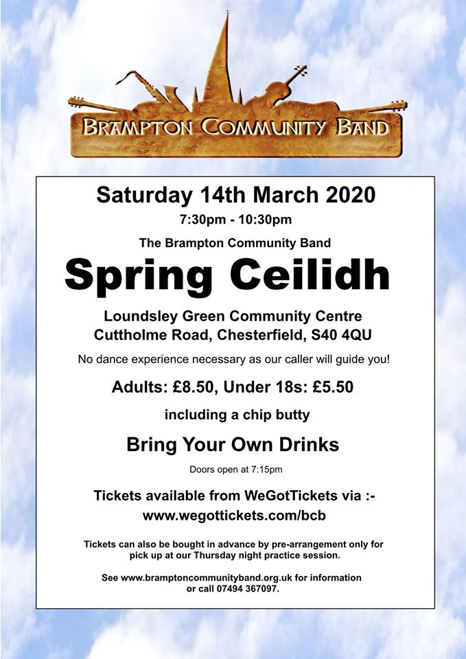Brampton Community Band Spring Ceilidh @ Loundsley Green Community Centre